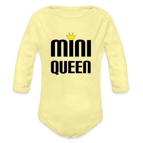 Queen Baby Geschenk - Baby Bio-Langarm-Body
