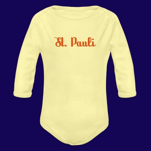 St. Pauli Logotype: Dein Kieztour Begleiter - Baby Bio-Langarm-Body