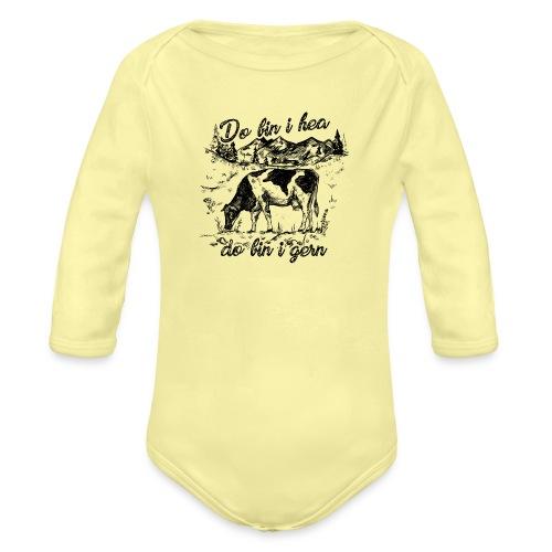 Vorschau: do bin i hea do bin i gern - Baby Bio-Langarm-Body