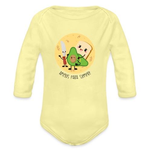 Amigos para siempre 2 - Body orgánico de manga larga para bebé