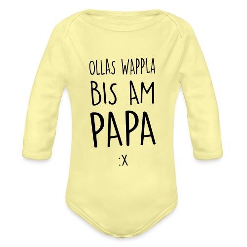 Vorschau: Ollas Wappla bis am Papa - Baby Bio-Langarm-Body