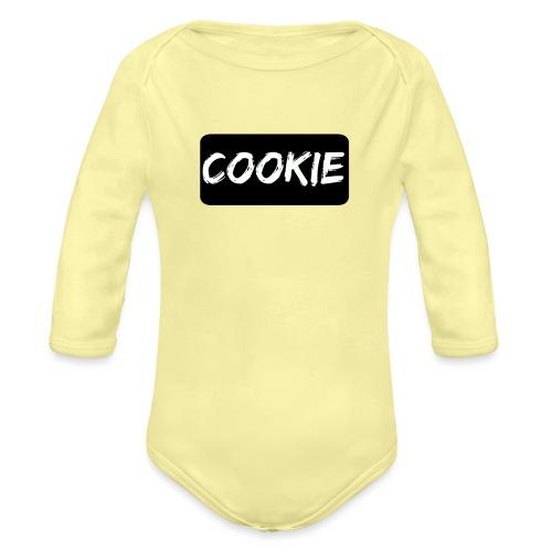 Negro de la galleta - Body orgánico de manga larga para bebé