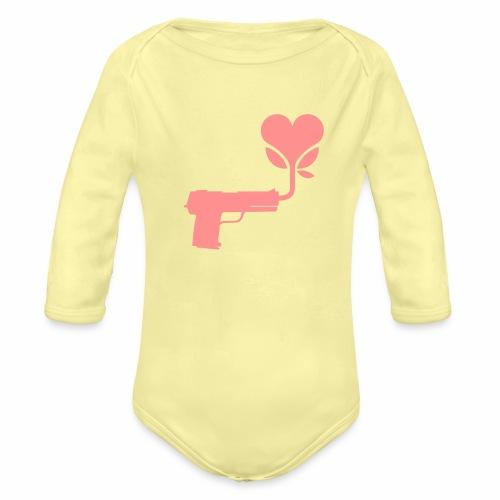 Local Underground logo flat - Organic Longsleeve Baby Bodysuit