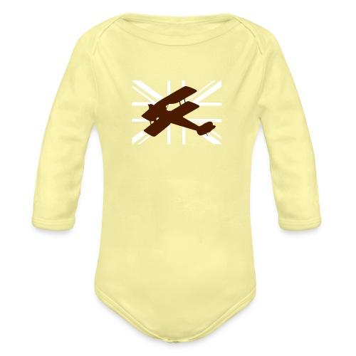 ukflagsmlWhite - Organic Longsleeve Baby Bodysuit