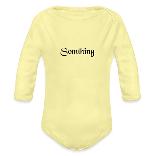 somthing - Baby bio-rompertje met lange mouwen