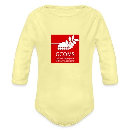 GCOMS logo - Organic Longsleeve Baby Bodysuit