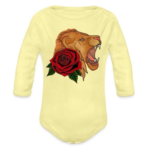 Lion - Body Bébé bio manches longues