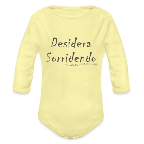 desidera sorridendo - Body ecologico per neonato a manica lunga