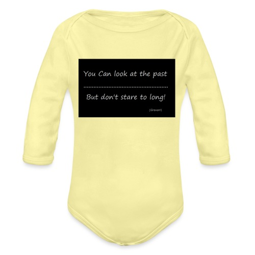 past - Baby bio-rompertje met lange mouwen