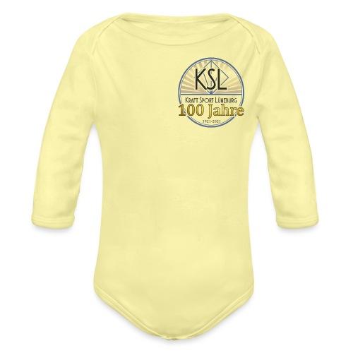 KS Logo 100 J - Baby Bio-Langarm-Body