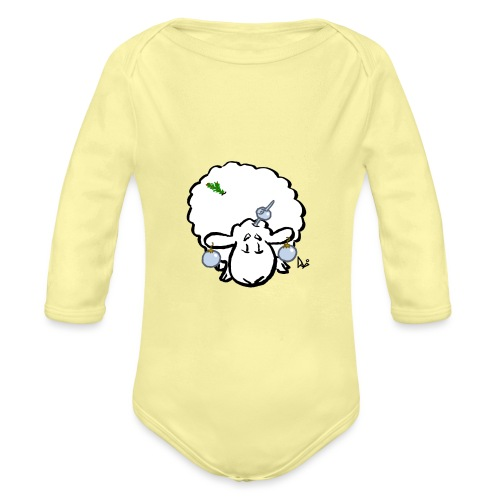 Christmas Tree Sheep - Organic Longsleeve Baby Bodysuit