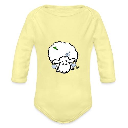Joulukuusi lammas - Vauvan pitkähihainen luomu-body