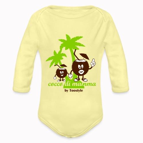 cocco di mamma tra le palme - Body ecologico per neonato a manica lunga