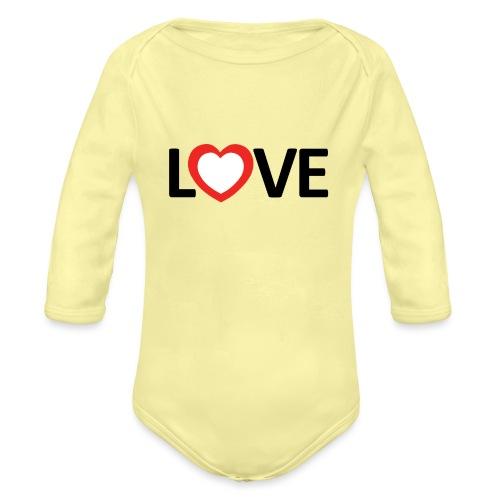 Love - Body orgánico de manga larga para bebé