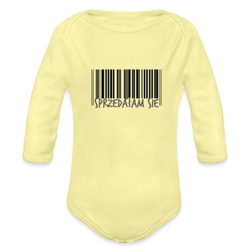 sprzedałam sie - Ekologiczne body niemowlęce z długim rękawem