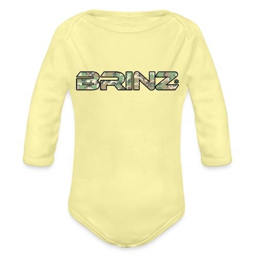 BRINZ Militare Fronte Retro - Body ecologico per neonato a manica lunga