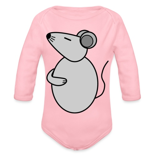 Rat - just Cool - c - Organic Longsleeve Baby Bodysuit