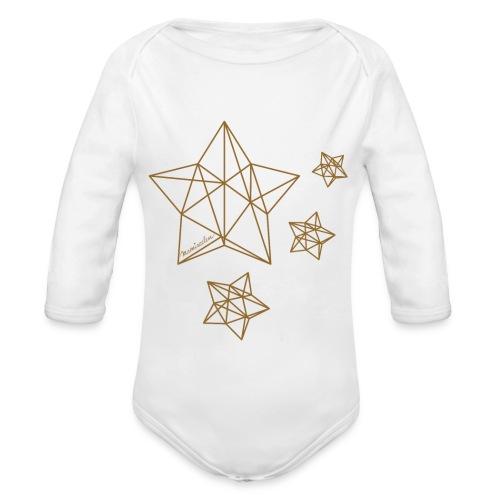 Sternenhimmel Diamant - Baby Bio-Langarm-Body
