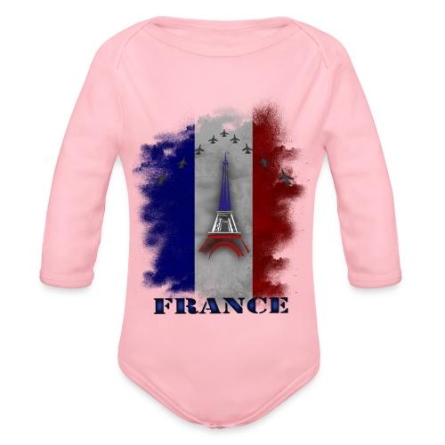 Fandesign Frankreich - Baby Bio-Langarm-Body