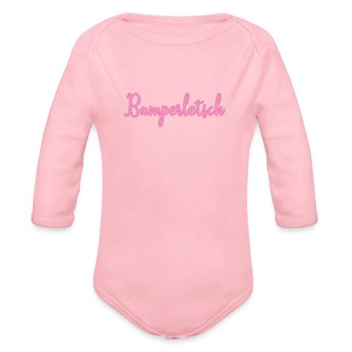 Bamperletsch in Pink - Baby Bio-Langarm-Body