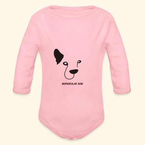 MONOCULAR DOG - Body orgánico de manga larga para bebé
