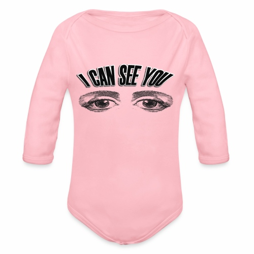 i can see you - Organic Longsleeve Baby Bodysuit