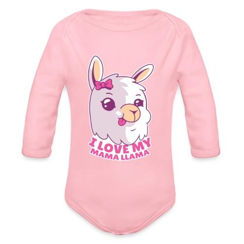 I Love My Mama Llama - Baby Bio-Langarm-Body
