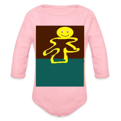 Glad mand - Langærmet babybody, økologisk bomuld