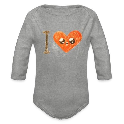 Kids for Kids: heart - Baby Bio-Langarm-Body