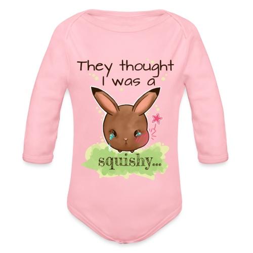 Not squishy - Organic Longsleeve Baby Bodysuit