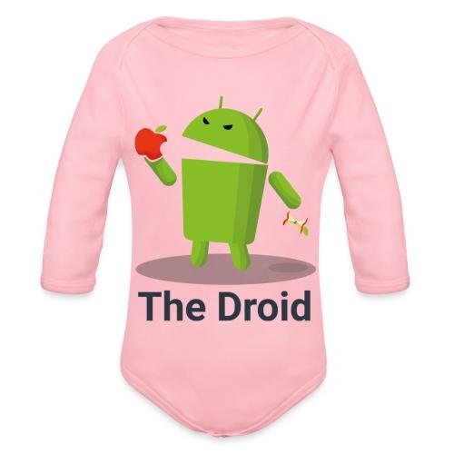 The Droid eats apple - Body ecologico per neonato a manica lunga