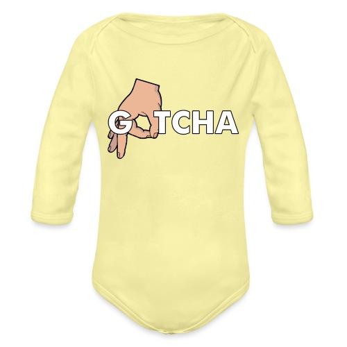 Gotcha Made You Look Funny Finger Circle Hand Game - Organic Longsleeve Baby Bodysuit
