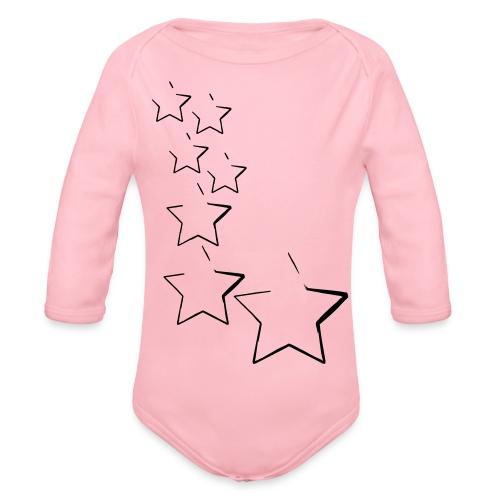 sterne - Baby Bio-Langarm-Body