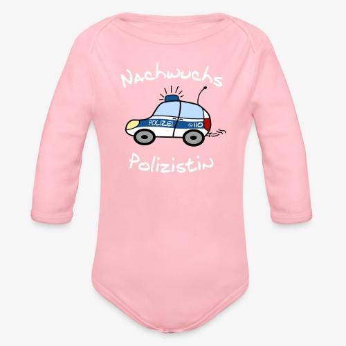 nachwuchs polizistin weiss - Baby Bio-Langarm-Body