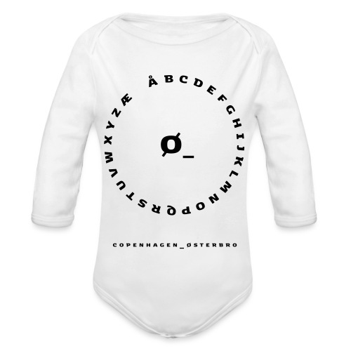 Østerbro - Langærmet babybody, økologisk bomuld