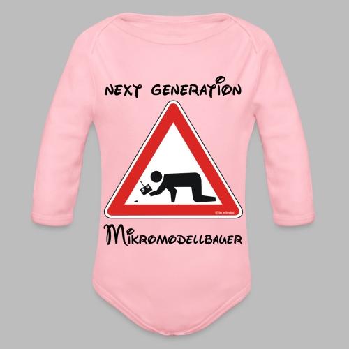 Warnschild Mikromodellbauer Next Generation - Baby Bio-Langarm-Body