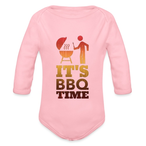It's BBQ Time - Baby bio-rompertje met lange mouwen
