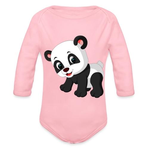 Panda Mignon - Body bébé bio manches longues