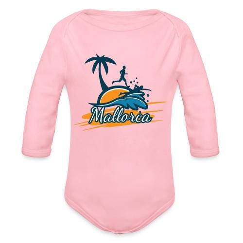 Joggen auf Mallorca - Sport - sportlich - Jogging - Baby Bio-Langarm-Body