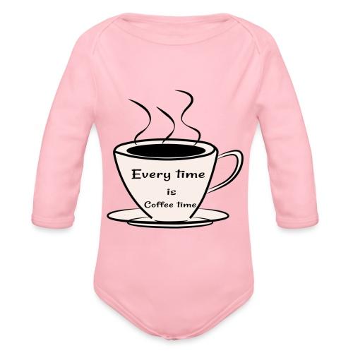 kaffe - Ekologisk långärmad babybody