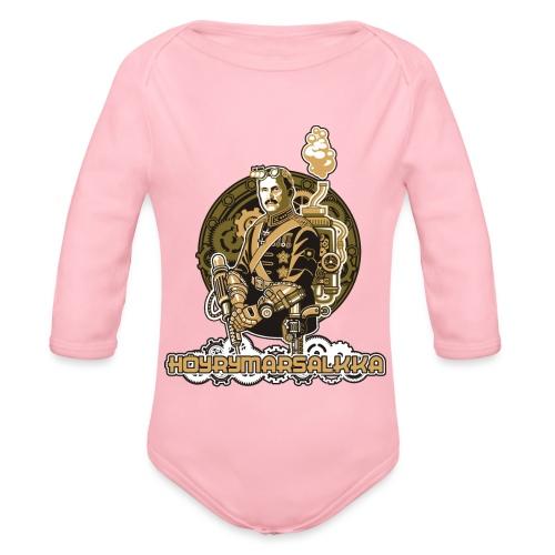 Höyrymarsalkkan perinteinen t-paita - Vauvan pitkähihainen luomu-body