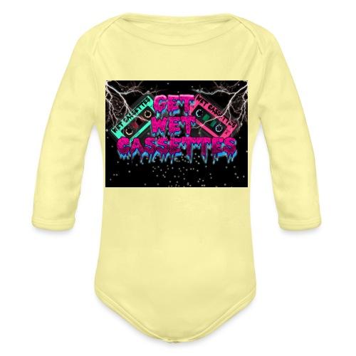 get wet cassettes - Vauvan pitkähihainen luomu-body