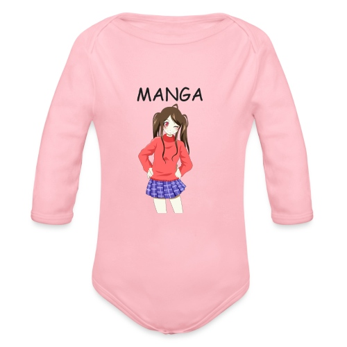Anime girl 02 Text Manga - Baby Bio-Langarm-Body