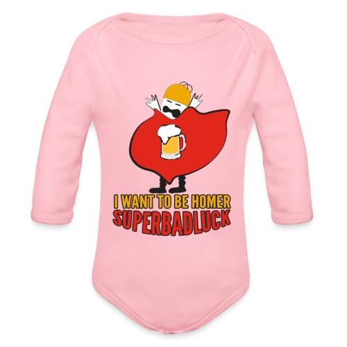 superbadluck - HOMER - Body ecologico per neonato a manica lunga