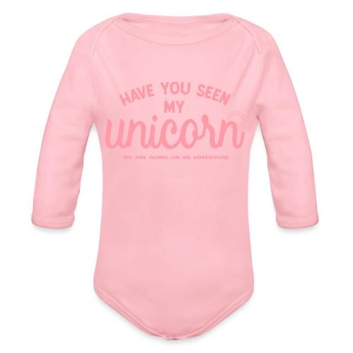 Unicorn pink - Organic Longsleeve Baby Bodysuit