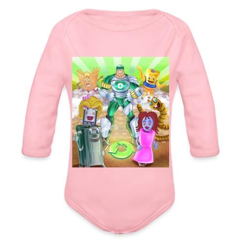 Captain Reece Icle - Organic Longsleeve Baby Bodysuit
