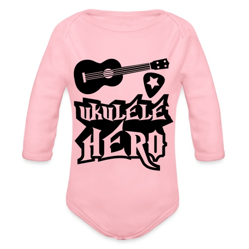 Ukelele Hero - Organic Longsleeve Baby Bodysuit