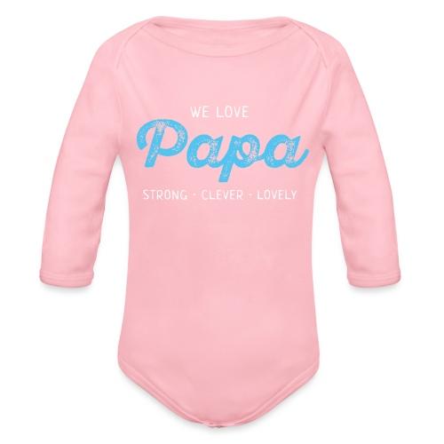 Papa Shirt Liebe Vater Geschenk Love Vatertag - Baby Bio-Langarm-Body