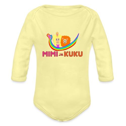 Mimi ja Kuku- sateenkaarilogolla - Vauvan pitkähihainen luomu-body