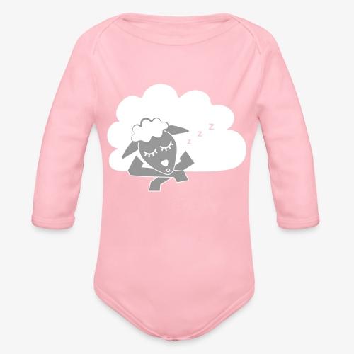 Sleeping Sheep - Organic Longsleeve Baby Bodysuit
